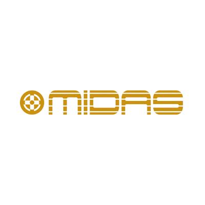 Vi bruger udstyr fra Midas