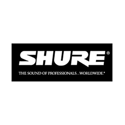 Vi bruger udstyr fra Shure